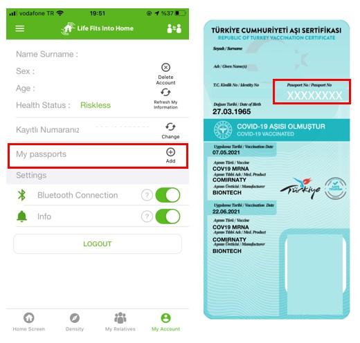 2021-08-24 Passport number on Vaccination Certificate (Turkish)
